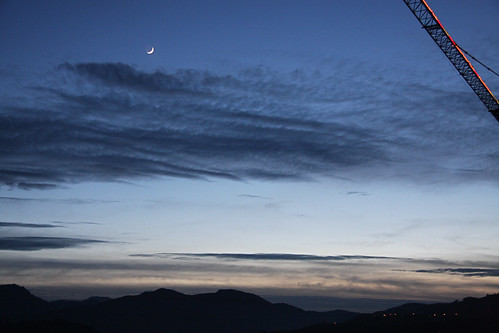 Crescent Moon with Jupiter and Mercury