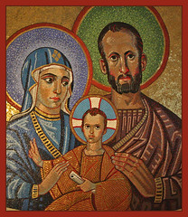 The Holy Family (Lawrence OP) Tags: westminster joseph cathedral mosaic mary jesus icon holyfamily christopherhobbs tesahunkin
