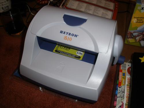 Xyron 510 sticker maker, etc. Christmas present from Daniel