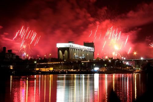NYE Fireworks from Bicentennial Park