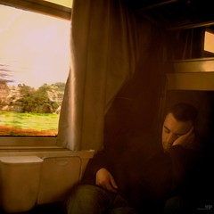 This Trip Never Ends.. (Osvaldo_Zoom) Tags: trip train long sleep journey commuters trenitalia