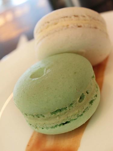 Pistachio & Lavender macarons
