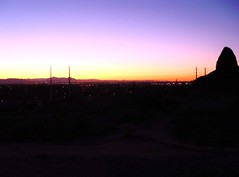 Here comes the heat.... (wanderingbub72 (on but mostly off)) Tags: morning sunrise desert papagopark phoenixaz