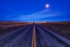 The Rolling Hills of Idaho (kern.justin) Tags: road moon west high nikon dynamic wheat falls hills idaho photograph american moonlight range hdr d700 kernjustin wwwthewindypixelcom