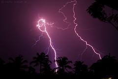 Lightning continues... (Vinod Kumar M.) Tags: nightphotography sky india nature weather night canon kerala canon350d thunderstorm lightning cochin kochi vinod sigma1770mmf2845dc vinodkumar vinodkumarm vinodkumarmphotography
