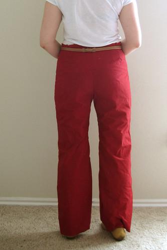 High waist pants muslin