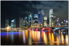 Marina Bay (fiftymm99) Tags: show park city bridge blue urban reflection lights hotel cityscape fireworks bank tourist business laser cbd merlion singaporeriver marinabay singaporeskyline marinapromenade marinabaysands nikond300 fiftymm99 gettyimagessingaporeq2
