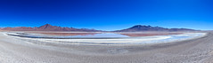 Altiplano 2 (Kelly Cheng) Tags: travel blue italy panorama white mountain lake color colour tourism southamerica water sunshine horizontal landscape volcano daylight colorful day desert outdoor vivid sunny bolivia bluesky nobody nopeople colourful copyspace altiplano traveldestinations pickbykc