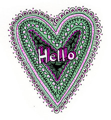 drawing 67 (Annabelle Nielsen) Tags: hello pattern heart drawing sketchbook doodle ornament drawingchallenge