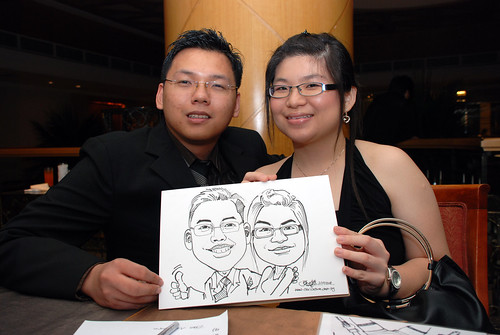 Caricature live sketching Misumi SouthEast Asia D&D 3