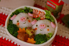 piggy bento 1 (luckysundae) Tags: piggy kawaii bento obento buta onephotoweeklycontest kyaraben