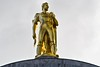 Gold Man - Oregon Pioneer on the top of the Oregon State Capitol Building in Salem Oregon
