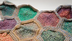 Progress - Hexagon Komb Afghan (LollyKnit) Tags: hexagons berrocco norahgaughan jojoland hexagonkombafghan