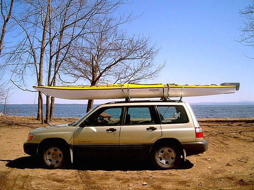 New Touring kayak on my car