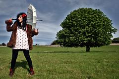 My fur lady (kyrstin) Tags: ireland greystones parasol ciara cherryblossom wicklow prettylady greengreengrass kyrstinhealyphotography