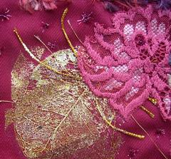 Closeup 4 seasons (Karen Cattoire) Tags: original abstract art handmade embroidery originalart creation fabric fiberart textileart tissu abstrait textiledart karencattoire fibretextile arttexilte