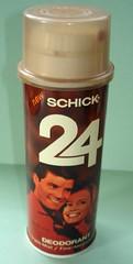 Schick 24 Deodorant (twitchery) Tags: 80s 70s aerosol deodorant vintageads antiperspirant vintagebeauty