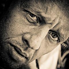 [Alain 9] (Christine Lebrasseur) Tags: street portrait people blackandwhite man france male art 6x6 sepia canon alain 500x500 obq allrightsreservedchristinelebrasseur