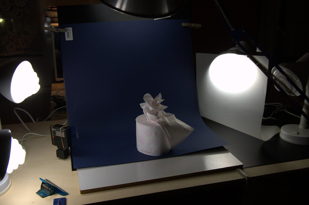Toilet paper - setup with CFLs