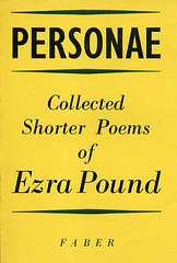 Personae: Collected Shorter Poems by Ezra Pound (Faber Books) Tags: colour typography design poetry archive style books ephemera 1950s poems author 20thcentury pound poets ezrapound typographic faber faberandfaber faberfaber