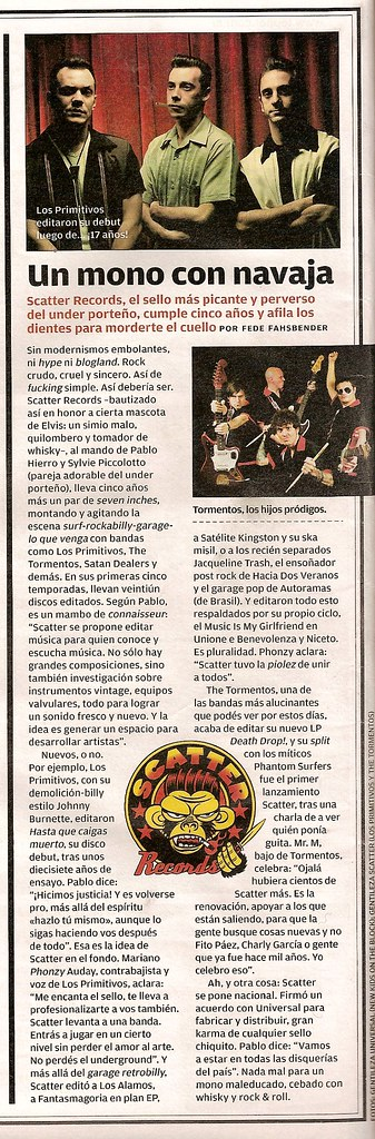 Scatter Records @ Rolling Stone, Julio 2008