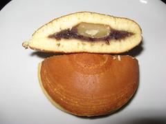 Otafuku: Red bean chestnut dorayaki (sliced)