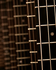 Connect The Dots (victoria.anne) Tags: music brown art dof play bokeh guitar song dot tuesday strings strum hbw finallybackinthegroove imissedacouplebokehwednesdaysbutfinallyhereiam followingjaimearoundwhilesheshopsforherboyfriendsbirthdaypresent