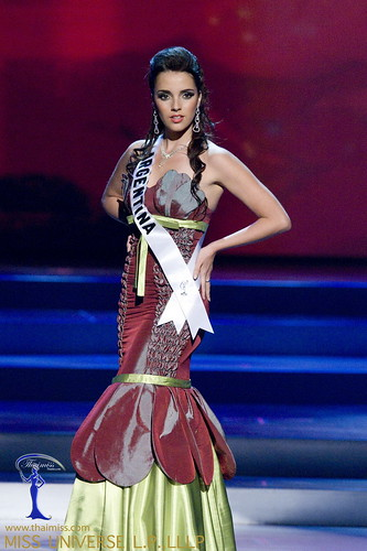 Maria Silvana Belli, Miss Argentina 2008, competes in a gown of her ...