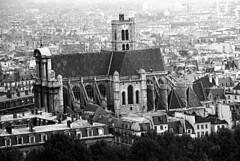 L'Eglise Saint-Gervais - Paris -35bw- Sep 1985 (MathTeacherGuy) Tags: bw paris france film church monochrome 35mm chapel restored restoration 1985 75004 marais eglise saintgervais lemarais 75003 visit75004 35neg 35bw leglisesaintgervais