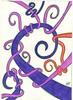 Enrolou (Paula Dugaich) Tags: vermelho roxo lilas aspirais entrelacados