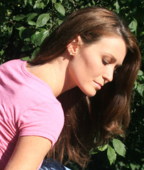 Back of neck and shoulder angle (PhotoAmateur1) Tags: park lighting morning pink friends shadow summer portrait people woman white hot sexy green art classic nature beautiful beauty face sunshine smiling fashion shirt female canon pose garden hair neck fun outside outdoors back nice model colorful soft pretty shoot sitting photoshoot emotion bright skin sweet body head background gorgeous profile creative picture posing headshot stunning features brunette shoulder shining closedeyes glamorous   beautifulphotoshoot