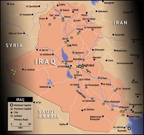 خارطة العراق | Map of Iraq