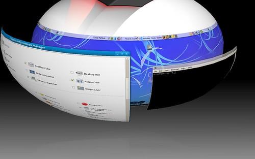 Compiz Desktop Sphere