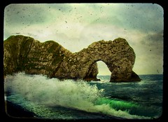 wild and windy durdle door (And Soon the Darkness) Tags: uk sea england rock waves windy dorset magicalmoments durdledoor aplusphoto theperfectphotographer poseidonsdance mygearandme