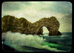 wild and windy durdle door (Big Star ✩) Tags: uk sea england rock waves windy dorset magicalmoments durdledoor aplusphoto theperfectphotographer poseidonsdance mygearandme