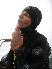 dive nun (squeezemonkey) Tags: portrait portland hood diver drysuit othree