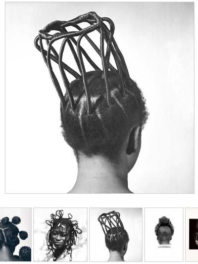 Ojeikere has documented, Becher-like, about 1000 different hairstyles worn