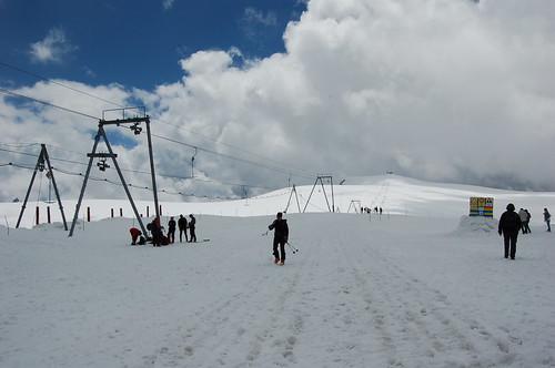 スキー場におりてみた