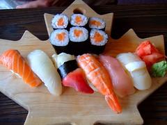 Sushi in Jasper (ycatbus) Tags: food canada sushi jasper roadtrip alberta mapleleaf rockymountains jaspernationalpark