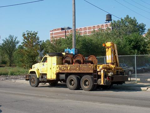 Union Pacific Railroad heavy maintenance of way department truck. Chicago Illinois. September 2006. by Eddie from Chicago