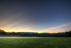 As the Fog Rolls Out (<wikd>) Tags: moon mist fog sunrise landscape geotagged dawn pennsylvania pa poconos shawnee hdr delawarewatergap pittston delawarewatergapnationalrecreationarea