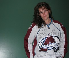 ThreeSixtyFive - 87 (Canadian Mum) Tags: selfportrait hockey canon nhl powershot 365 avalanche coloradoavalanche threesixtyfive s5is signedjersey