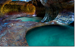Stepping Back in The Subway (Phijomo) Tags: nature water outdoors nikon scenic tunnel zion zionnationalpark runningwater emeraldpools thesubway northcreek d80 nikond80 leftfork theperfectphotographer