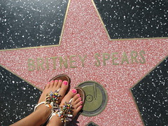 Britney Spears is a Star (seaotter22) Tags: feet star losangeles sandals hollywood hollywoodblvd walkoffame britneyspears