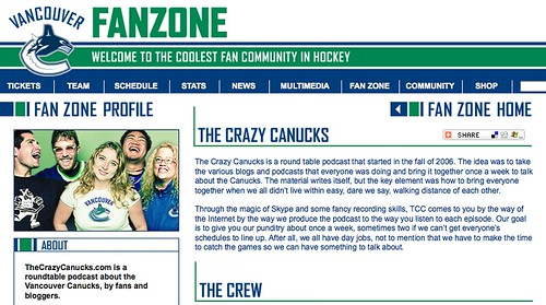 The Crazy Canucks on Canucks.com