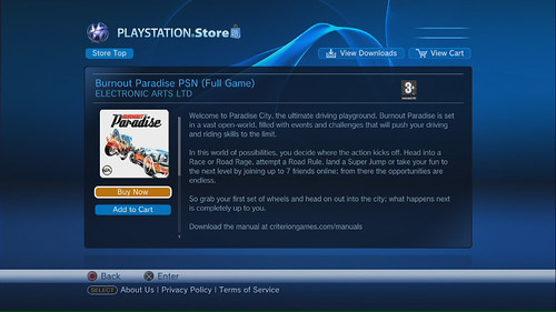 Burnout Paradise on PlayStation Store 02