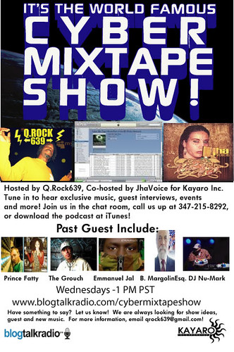 The Cyber Mix Tape Show Flyer