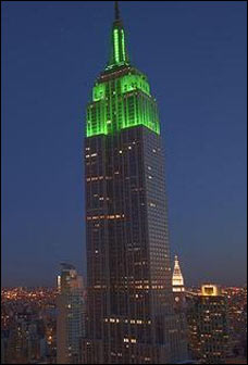 Empire State Building lit green for Eid al-Fitr