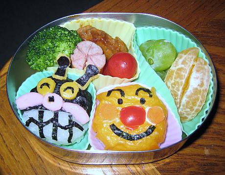 Baikinman bento lunch for preschooler