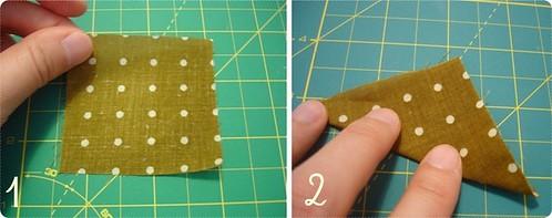 Como dobrar kanzashi 1